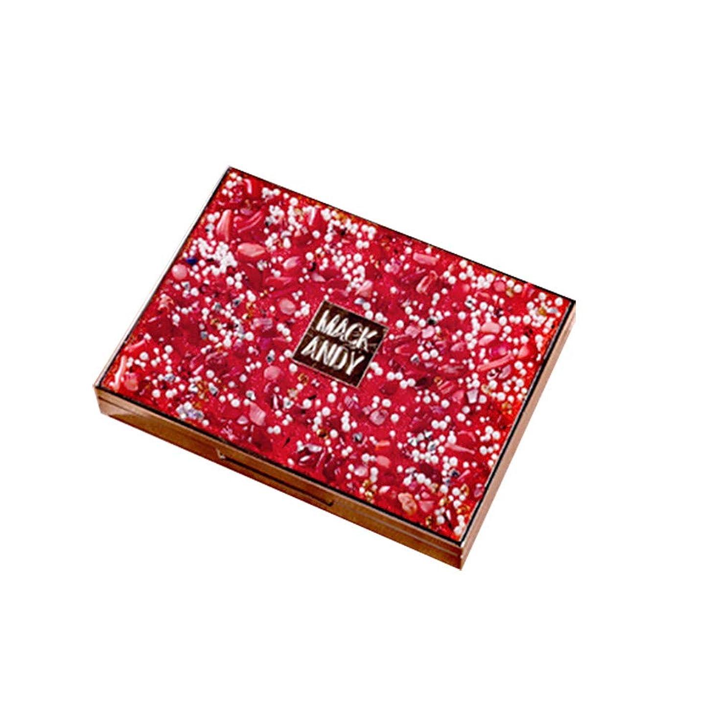 絶対にブロー小康アイシャドウ 8色 ブラシ付き スパンコール 女子力 パウダー パールアイシャドウ メイクパレット アイシャドー メイクパレット グリッター 女性 日常 日韓風 携帯便利 極め細かいアイメイクhuajuan (RD)
