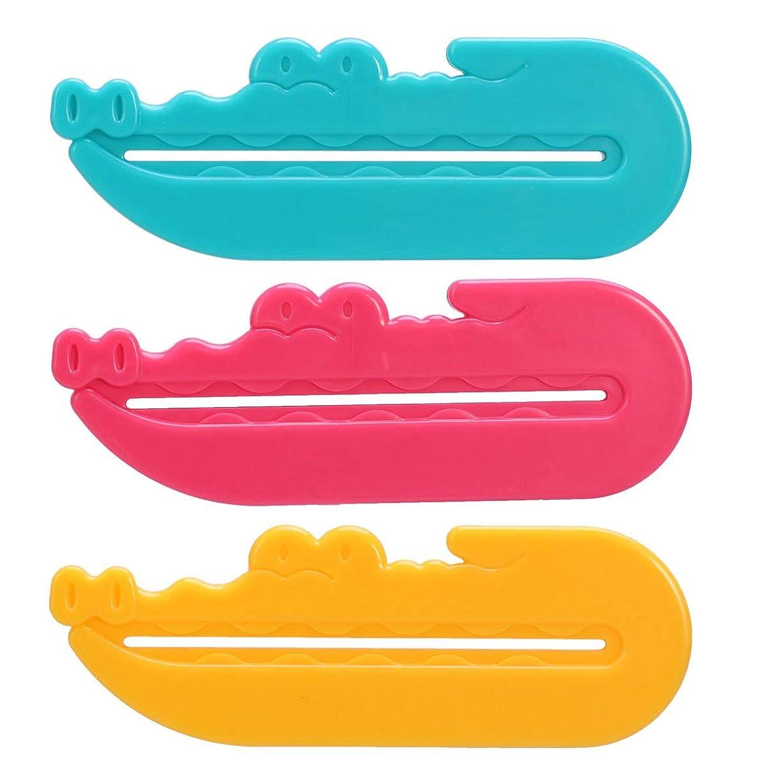 シルクおばさん保守的SUPVOX 浴室のための3pcs歯磨き粉のスクイーザディスペンサーの歯磨き粉の管クリップホルダー()