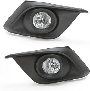 LEDIN For 2014 2015 2016 Mazda 3 Clear Fog Driving Light Kit w/Black Bezel Switch Bulbs