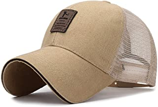 JWLJG-ZZ Gorra de Beisbol Summer Baseball Cap Mesh Cap Hombres Mujeres Bone Snapback Trucker Cap Solid Dad Hat