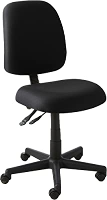 OFM Core Collection Posture Series Armless Mid-Back Task Chair, in Black