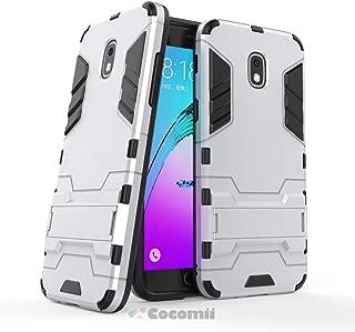 Cocomii Iron Man Armor Galaxy J7 2018/J7 V/J7 Star/J7 Refine Case New [Heavy Duty] Tactical Grip Kickstand Shockproof Bumper [Military Defender] Full Body Cover for Samsung Galaxy J7 2018 (I.Silver)