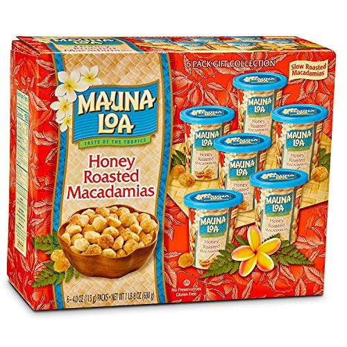 Mauna Loa HONEY ROASTED MACADAMIA NUTS 6 Pack