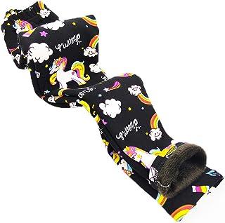 Toddler Kids Girls Pants Winter Thick Fleece Lined Christmas Leggings Tights (Unicorn,6T-7T)