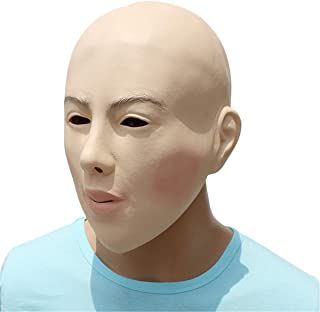 Wchaoen Face Latex Mask Fancy Dress Halloween Costume Party Living Doll Crossdresser Tools and accessories