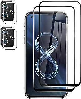 طبقة واقية للشاشة أسوس زينفون 8 من TingYR (عبوة من قطعتين) + واقي عدسة الكاميرا Asus Zenfone 8 (عبوة من 2)، صلابة 9H، HD، ...
