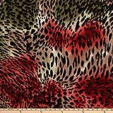 TELIO 0680047 Brazil Stretch ITY Knit Animal Print Olive