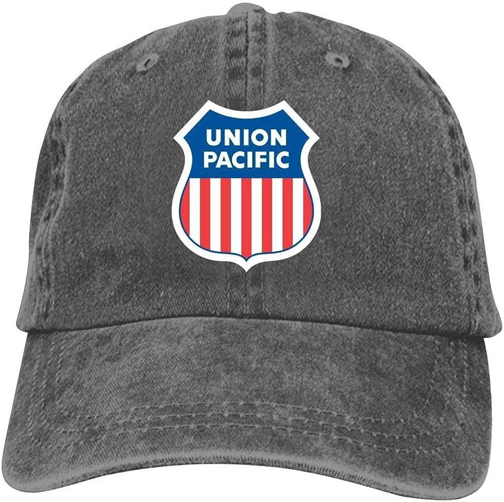 Unisex Baseball Cap Union Pac-ific Rail-Road Logo Trucker Cap Vintage Washed Cowboy Hat
