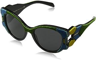 10c43c2e7a Prada 0PR10US I8A5S0 54 Gafas de Sol, Verde (Azure/Yellow/Green/