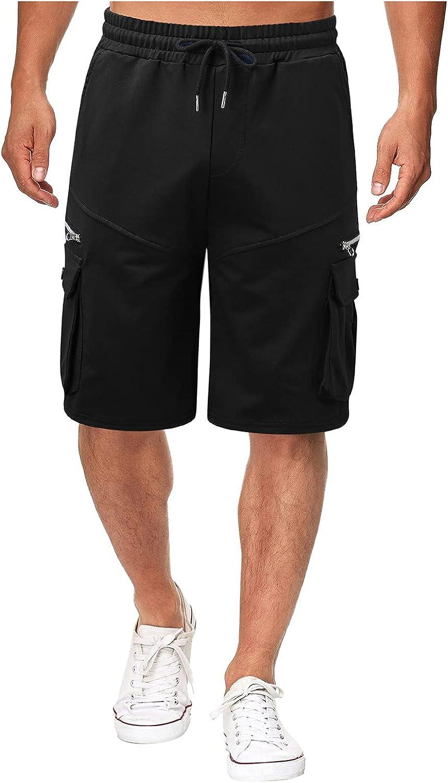Men's Cotton Casual Shorts Multi-Pocket Zipper Lace Up Cargo Shorts 2021 Summer Knee Length Sports Shorts - Limsea