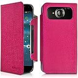 Seluxion-Funda con tapa de color rosa L universal para Acer Liquid Jade S, color marrón