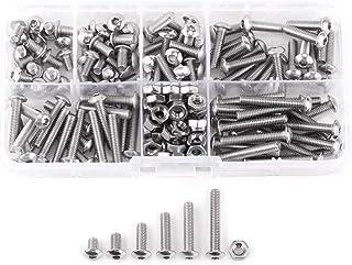 مجموعة مسامير وصواميل مكونة من 170 قطعة M4 من الفولاذ المقاوم للصدأ SS304