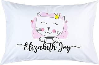 Personalized Cat Pillowcase, Scandinavian Decor, Standard Size or Toddler Size Pillowcase