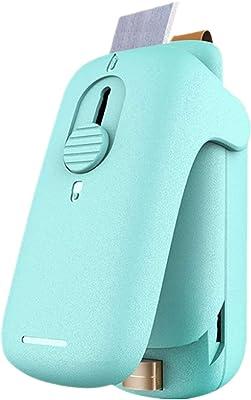 Mini sellador de bolsas, 2 en 1 sellador térmico con cortador, bolsa portátil selladora térmica al vacío para bolsas de virutas, bolsas de plástico, almacenamiento de alimentos, aperitivos frescos