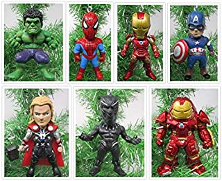 Christmas Ornaments Team Avengers Comic Super Hero Set Featuring Iconic Avenger Members
