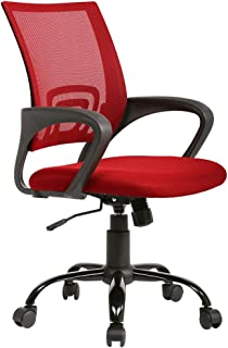 Office Chair Desk Chair Ergonomic Computer Chair Mesh Back Support Modern Executive Adjustable Rolling Swivel Chair for Home&Office, Red
