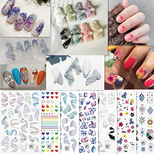 1 Hoja de Pegatina para decoración de uñas, Zapatos de Ballet de Moda, Cinta Adhesiva para uñas, manicura Francesa, Flores Frescas, calcomanía para decoración de uñas para niña, Gran Oferta