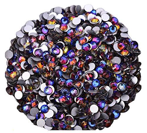 Lot de perles en strass Jollin avec arrière plat pour collage, Blue Blaze., ss20 576pcs