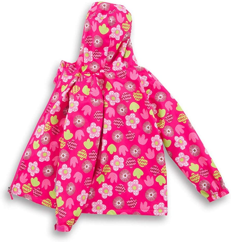 wuayi Manteau Fille Enfants Imprim/é Floral Imperm/éable Blouson /à Capuche Fille Jacket Kids Coat