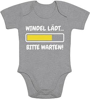Shirtgeil Windel Lädt, Bitte Warten! - Lustige Babykleidung Baby Kurzarm Body