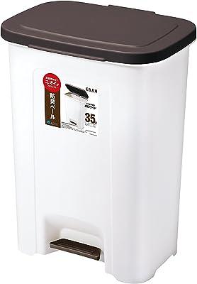 アスベル ゴミ箱 ペダルペール35L 「R防臭エバン」 ブラウン 6416