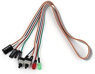 """SODIAL(R) PCケース 赤緑LEDランプ ATX電源リセットHDDスイッチ20 """""""