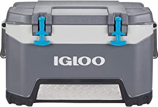 Igloo BMX 52 Quart Cooler with Cool Riser Technology, Fish Ruler, and Tie-Down Points - 16.34 Pounds - Carbonite Gray and ...