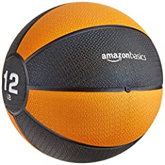 12-pound ball for upper- and lower-body exercises Ideal for classic medicine ball workouts Helps develop core strength, balance, and coordination Sturdy rubber construction; can bounce off hard surfaces Textured finish provides a superior grip