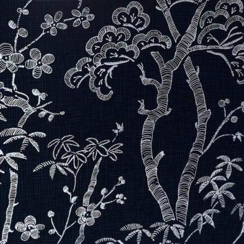 A-Street Prints Bonsai Boom Behang, Navy, 20.5-Inch x 33 ft
