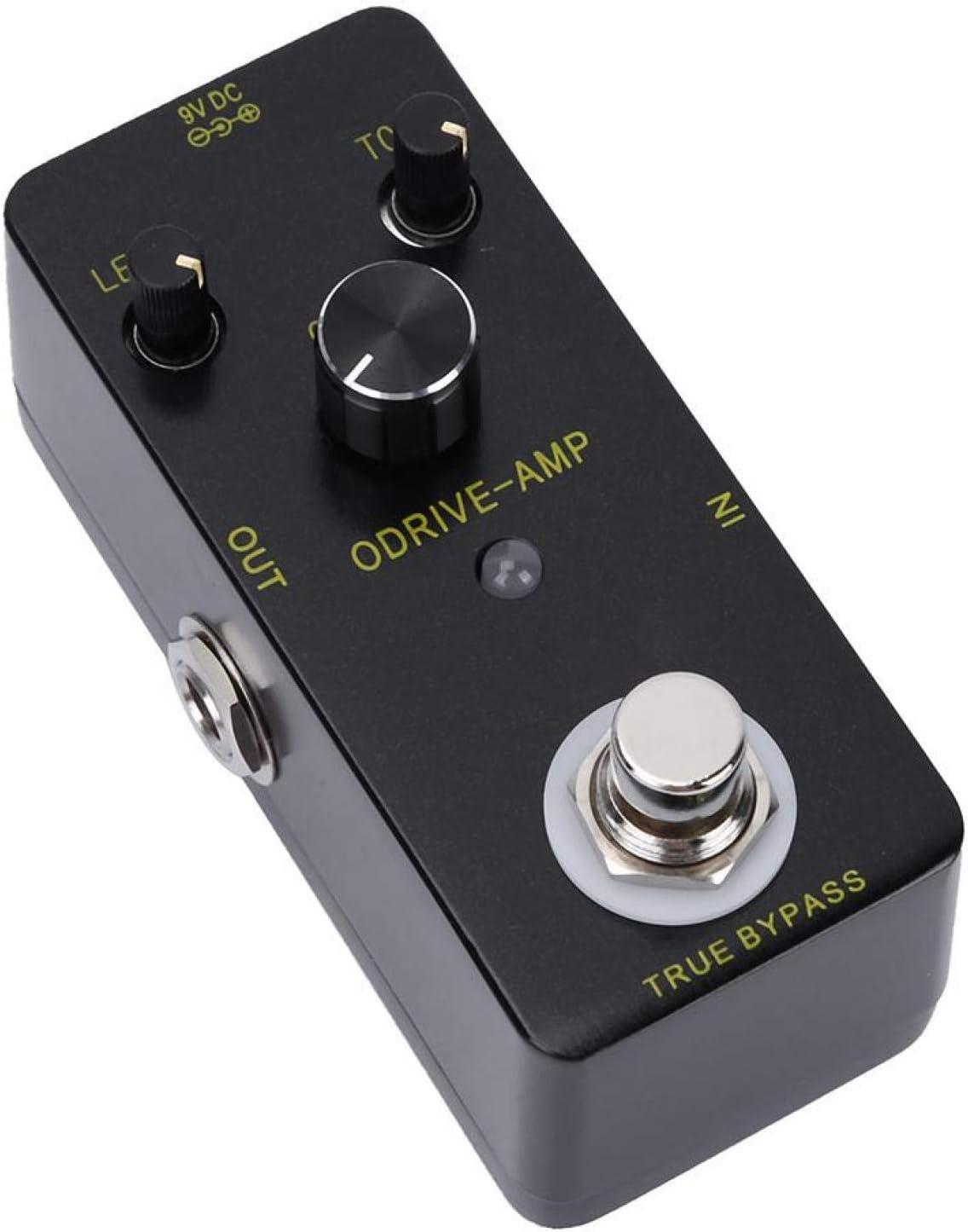 Pedal de efecto de guitarra Overdrive, carcasa de aleación de zinc Guitarra eléctrica Estilo ODRIVE-AMP Distorsión del pedal de efecto Overdrive