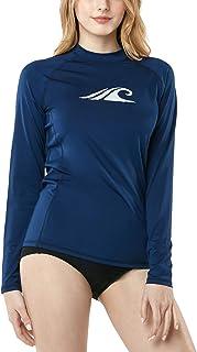 TSLA Women's UPF 50+Swim Shirt Rashguard Long Sleeve FSR Series