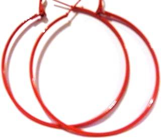 Color Hoop Earrings Simple Thin Hoop Earrings 1 Inch Hoop Earrings