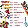 aovowog 1600+ Lavoretti Creativi Bricolage Kit per Bambini,DIY Art Craft Set con Palla Pompon,Scovolini Pipa Ciniglia Steli,Cartoncini Colorati,Bastoncino del Ghiacciolo,Piuma,Paillettes,Occhi Finti #1