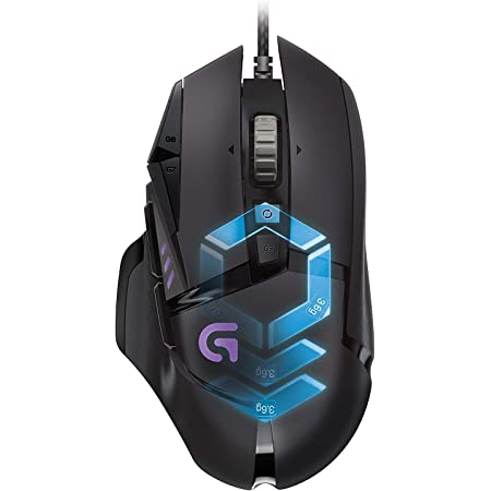 Logitech G502 Proteus Core Tunable Gaming Mouse with Fully Customizable Surface, Weight and Balance Tuning