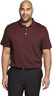Men's Big and Tall Flex Short Sleeve Stretch Stripe Polo Shirt