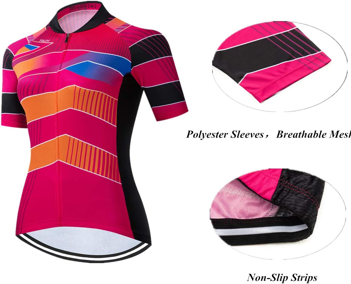 Verano Ni/ña Se/ñora Manga Corta Bicicleta de Monta/ña Ciclismo Conjunto de Ropa Ropa de Ciclismo weimostar Conjunto de Maillot de Ciclismo para Mujer