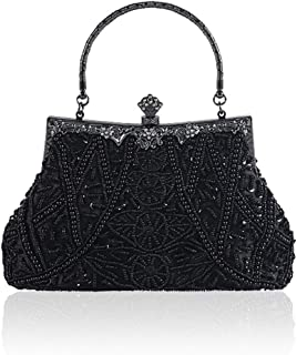 Evening Bags and Clutch for Women Vintage Beaded And Sequined Evening Bag Party Clutches Wedding Purse