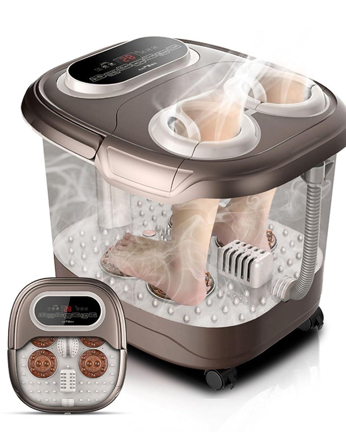 病気キャプション美容師ZHANGRONG- 足浴槽 自動 フットバス 電動マッサージ 加熱 フットバス 足浴槽 フットマッサージ機 家庭 一定温度