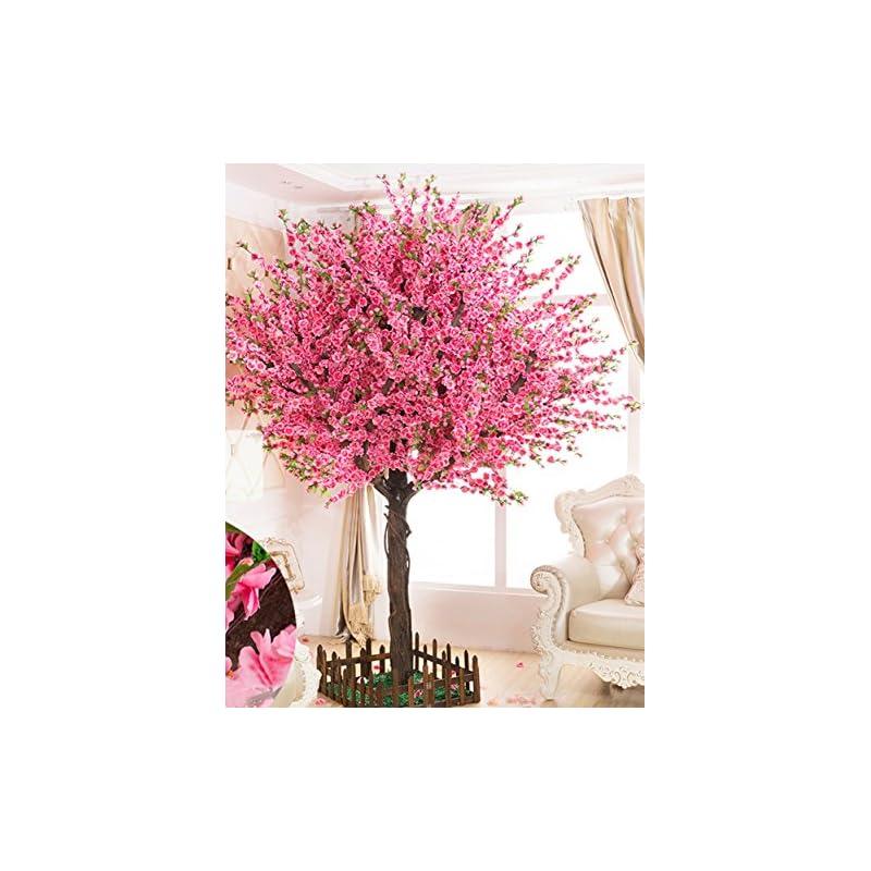 silk flower arrangements gorgeous artificial cherry blossom trees pink fake sakura flower indoor outdoor home office (6ft tall/1.8m)