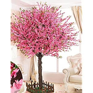 Vicwin-One Gorgeous Artificial Cherry Blossom Trees Pink Fake Sakura Flower Indoor Outdoor Home Office