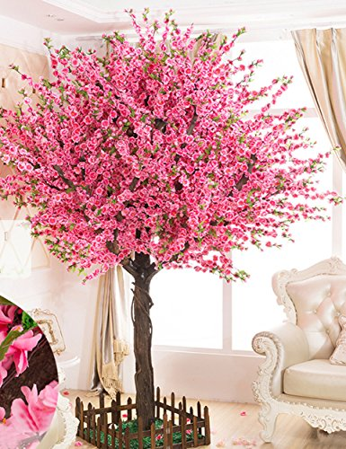 Vicwin One Gorgeous Artificial Cherry Blossom Trees Pink Fake Sakura Flower Indoor Outdoor Home Office 6ft Tall 1 8m Buy Online In Grenada At Grenada Desertcart Com Productid 82788662