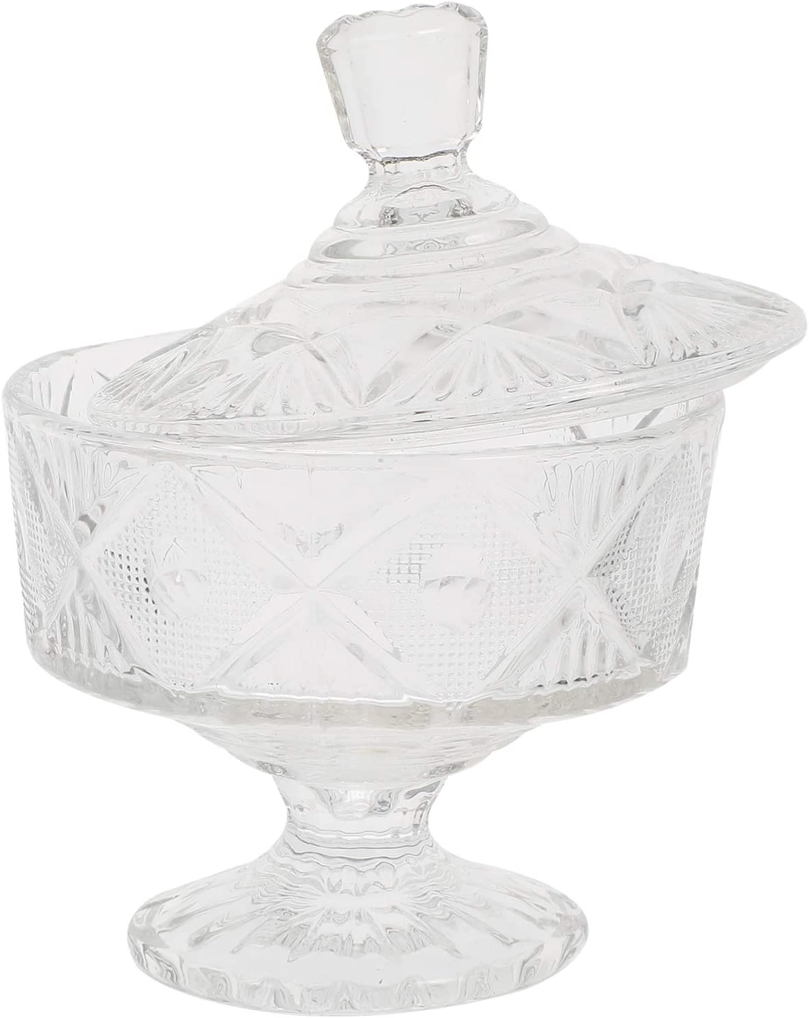 Max 60% OFF DOITOOL Transparent Glass Columbus Mall Candy Dish Lid Decorative with B