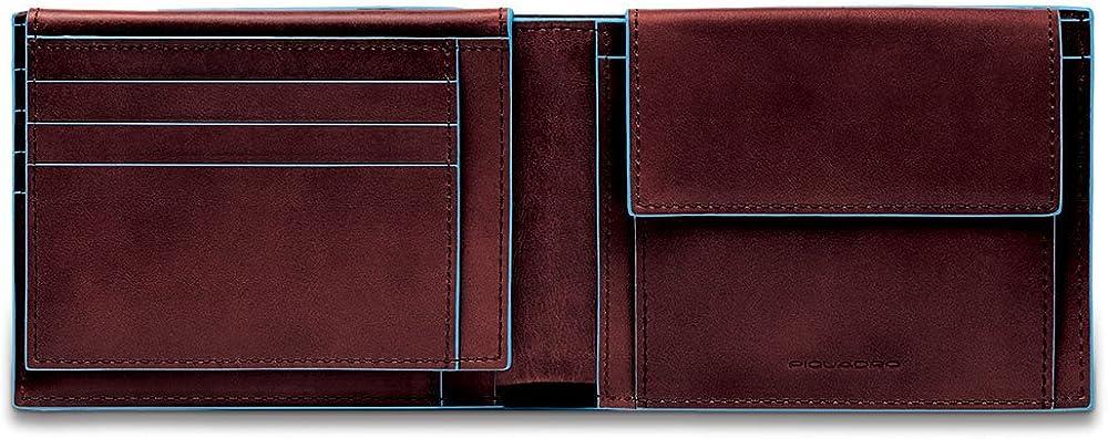 Piquadro blue square portafoglio porta carte di credito per uomo in pelle protezione rfid PU1392B2R/MO