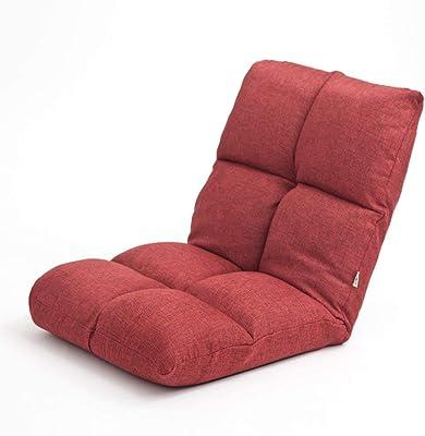 怠惰な椅子折りたたみベッド寝室居心地の良いレジャーグリーン/ブルー/ブラウン/レッド/カーキ (Color : Red)