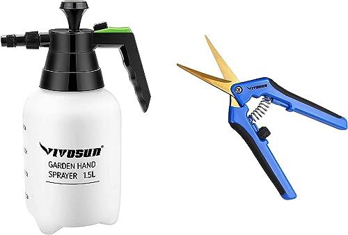 discount VIVOSUN 1-Pack 2021 Gardening Hand Pruner Pruning Shear with discount Pressure Water Sprayers online