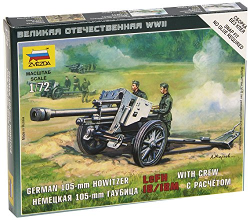 The German I05-mm Howitzer with Crew LeFH I8/I8m