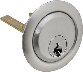 National Hardware N280-768 V7650 Dead Bolt Rim Cylinders in Aluminum, 3-1/8