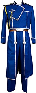 Cosplay Colonel Roy Mustang Costume Military Uniform Outfit