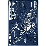AQUARIUS 24-1272 Star Trek Enterprise Blueprint Poster, 24 by 36-Inch