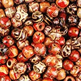 300pcs 12mm Painted Wood Beads for Hair, Jewerly Making, Macrame Projects